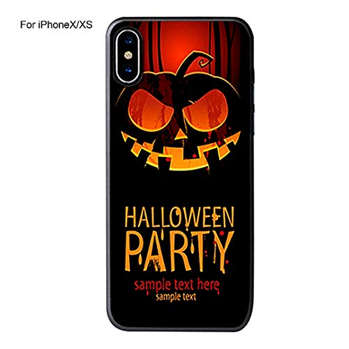 Halloween Series Phone Case Stabile Gummi Hybrid Dual Layer Fall-Abdeckung für iPhone- (iPhoneXS) Layer-hybrid Fall