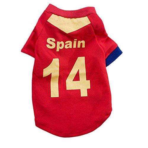 HBR Pet Dog Soccer World Cup Camiseta de fútbol para Mascotas Jersey de  Perro Sport Jersey 097b3d652