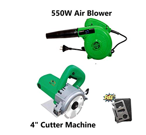 ToolsCentre 2.8 m³/min 550 W Air Blower with 4-inch Cutter Machine for Marble, Wood and Granite