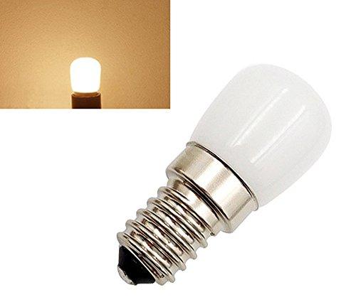 2-Packs 1.5W E14 SES Mini-LED-Birnen-warmes Weiß 2800K 220-240 Volt 15W Halogen-Ersatz Kleine Edison Screw E14 LED-Lampe für Pygmy Kühlschrank / Mikrowelle / Dunstabzugshaube / Nähmaschine