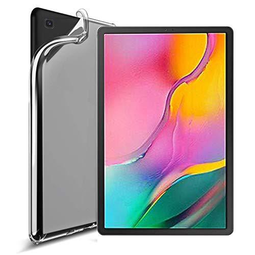 RLTech Funda para Samsung Tab A 10.1 2019, Silicona TPU Flexible [Anti-rasguño] [Resistente a Golpes] Funda Protectora Case Cover para Samsung Galaxy Tab A T510/T515 10.1 2019, Claro