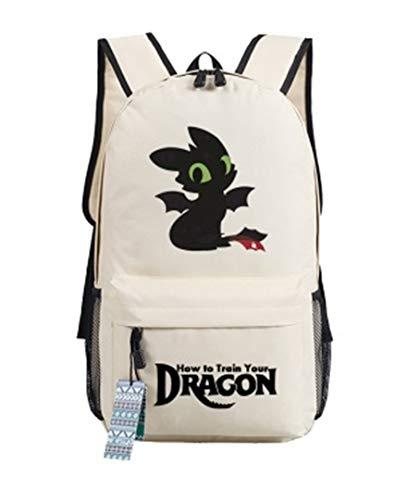 AUGYUESS How to Train Your Dragon Mochila Escolar Bolsa de Hombro Mochila de Diario