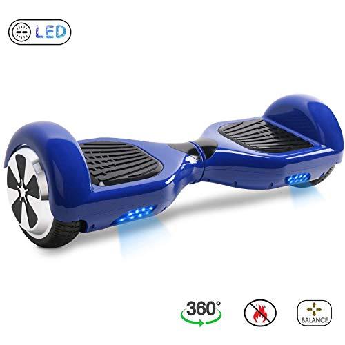 BE3K Hoverboard 6.5' Patinete Eléctrico Scooter Auto Electrico Patinetes, Monopatín Eléctrico con 2*350W Motor, Hoverboard Eléctrico para Niños y Adultos (Azul)