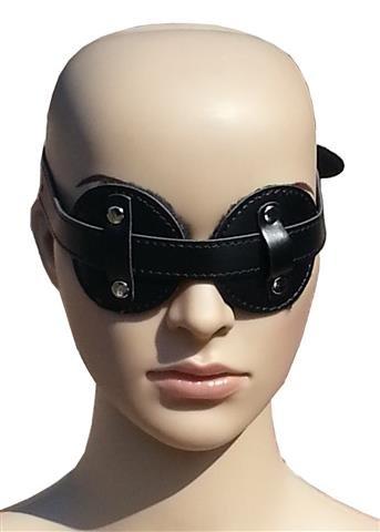 loveorama.de Bondage Leder Augenbinde Augenmaske mit Pelz gepolstert