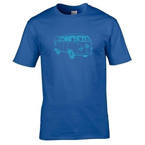 Naughtees kleidung - VW Wohnmobil T-shirt Geteilte scheibe klassisch wohnwagen schlemmen Königsblau