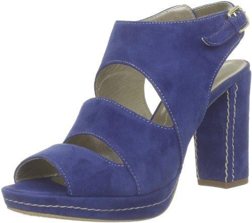 Espace  Peyro,  Sandali donna, Blu (Blau (Camoscio Electrico)), 37.5 EU