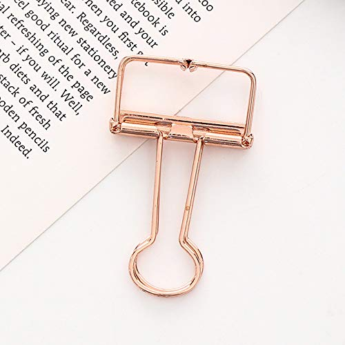 TianranRT 1pc Metall Clip niedlich Binder Clips Album Papier Clips Schreibwaren Büro (Roségold) - Antriebswelle Ring