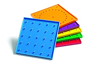 6in Double Sided Geoboards from LEARNING ADVANTAGE