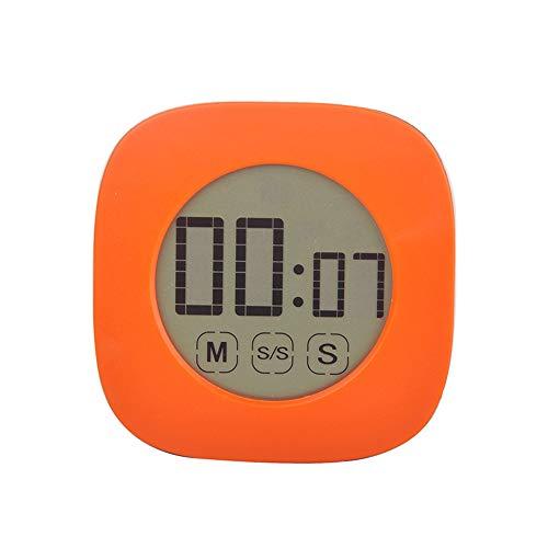 CTGVH Mini Magnetischer Digitaler Küchen-Timer, Mini-Touchscreen, Küchentimer Orange - Ring-küchen-timer