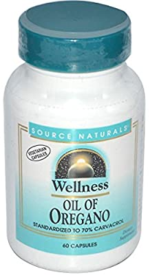 Source Naturals, Wellness, Oil of Oregano, 60 Capsules from Source Naturals