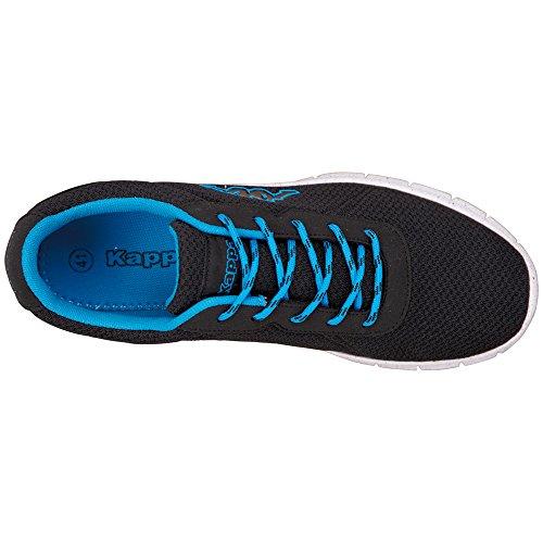 Kappa Cello, Sneaker Basse Unisex - Adulto Nero (Schwarz (1160 Black/Blue))