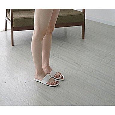 LFNLYX Donna tacchi Primavera Estate Autunno La comodità di Glitter Casual Stiletto Heel altri nero rosa rosso argento a piedi White