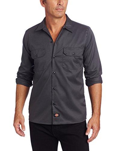 Dickies Herren Sweatshirt Streetwear Male Shirt Long Sleeve Slim grau (Charcoal Grey) Large