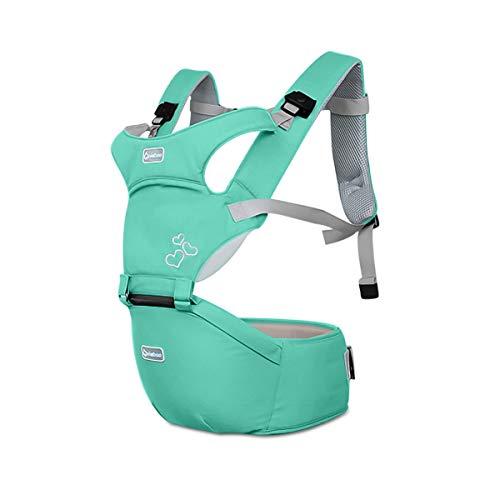 SONARIN Front Premium Hipseat Porte-bébé Baby Carrier,Multifonctionnel, Ergonomique,100% Coton, Boucle Rotative à Papillon, 6 positions de transport, Sûr et Confortable,cadeau idéal(Vert)