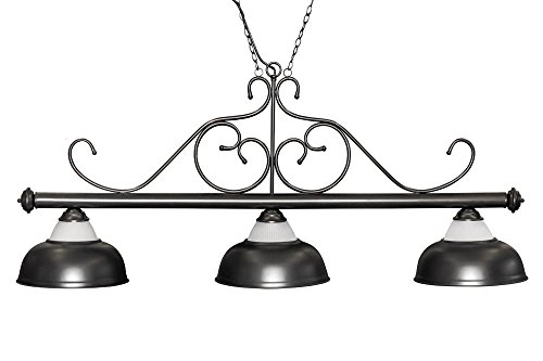 Dybior Billard Lampe Opera, schwarz, 3 Schirme, Ø38cm, 112cm