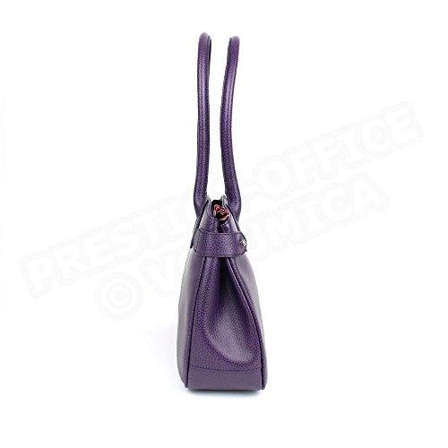 Sac à main paris cuir Fabrication Luxe Française Violet