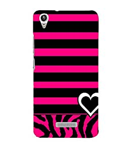 Vizagbeats white and black hearts Back Case Cover for Lava Pixel V1