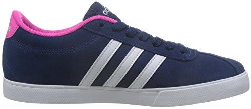 adidas Damen Courtset W Turnschuhe, Mystery Blue Ftwr White / Shock Pink Blau (Azumis/Ftwbla/Rosimp)
