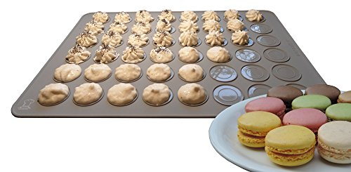 BackeFix Silikon Macarons Backmatte für Makronen und Luxemburgerli - die beliebteste für Anfänger passend zum Buch Ø 3,8cm