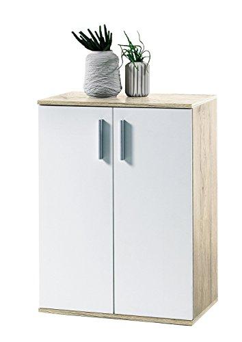 Avanti trendstore - bea - comó in imitazione di quercia san remo/bianco, dimensioni lap ca. 60x82x35 cm