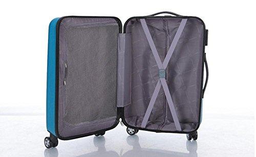Xiuxiandianju 20 pollici 24 pollici 28 pollici girevole leva ABS chiusura fibbia usura impermeabile per il tempo libero viaggio valigia diverse SuitcaseColour & taglia (36-55L) Pink