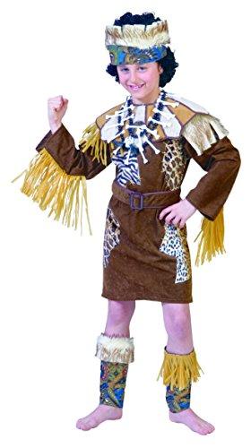 AFRICAN CHILD Afrikaner Kostüm Kinder Gr. - Buschmann Kostüm