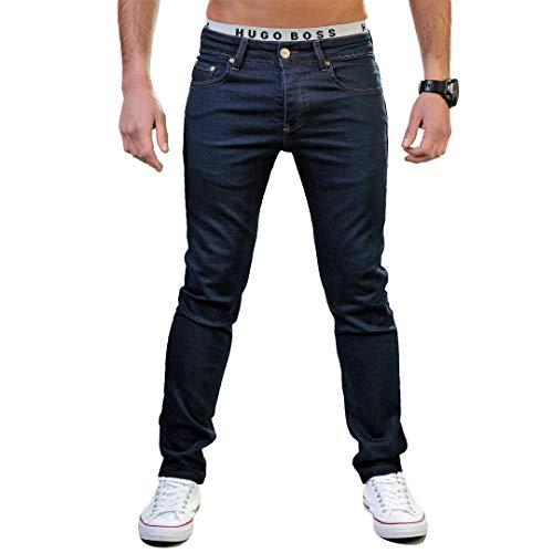 Gelverie Herren Hose I Slim Fit I Hochwertige Jeanshosen für Männer, Dark Blue Denim, W30 / L34 -