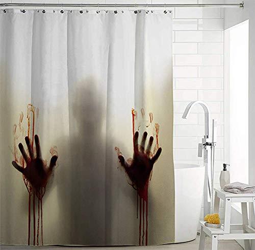 utigen Schatten Duschvorhang wasserdicht und Schimmel Partition Vorhang Bad Vorhang,A,175 * 180cm ()
