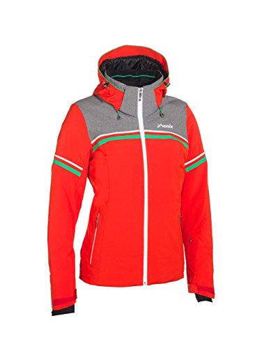 Phenix Damen Skijacke Orca Jacket, Red/Grey, 38