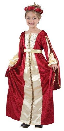 Generique Kostüm Mittelalterliche Königin für Mädchen 104/116 (4-6 Jahre)
