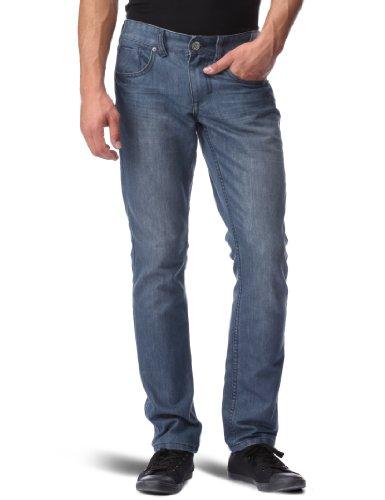 Globe Sixx Jean - Jeans da uomo, Blu (Grigio/blu), 32