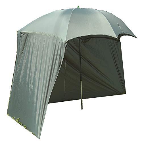 Q-Tac Schirmzelt PVC, Angelschirm mit gummierter Oberfläche, Angel Schirmzelt 2,30m