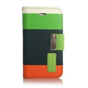 Lumsing® ATC iPhone 4 4S Flip Cover Tasche Schutz Hülle Leder Case Ledertasche inkl. Schutzfolien Set