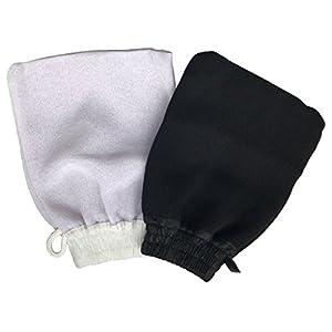 Guante de Kessa-Kessel (2 uds) Exfoliante Hammam para Jabón Negro de Exfoliación y Masaje Corporal – Destapa Poros…