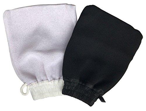 Scopri offerta per Guanto Kessa-Kessel Hammam (2 unità) Utilizzato per Ammam con Sapone Nero Esfoliante e Massaggio Corporale - Pulisce i Pori Aiutando ad Eliminare le Impurità della Pelle. 1 Guanto Duro ed 1 Morbido