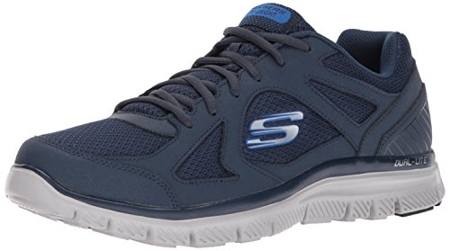 Skechers Flex Advantage 1.0-Zizzo, Baskets Homme, Bleu (Navy/Blue), 41 EU
