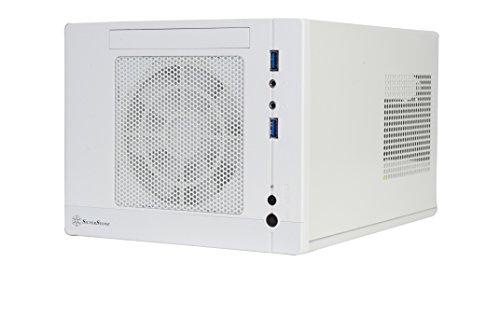SilverStone SST-SG05W-Lite - Carcasa de ordenador compacta cubo Sugo Mini-ITX, blanco