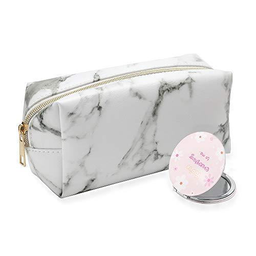 Yxaomite Make-up-Tasche, Marmor-Muster, leicht, wasserdicht, Aufbewahrungstasche für Schmink-Pinsel