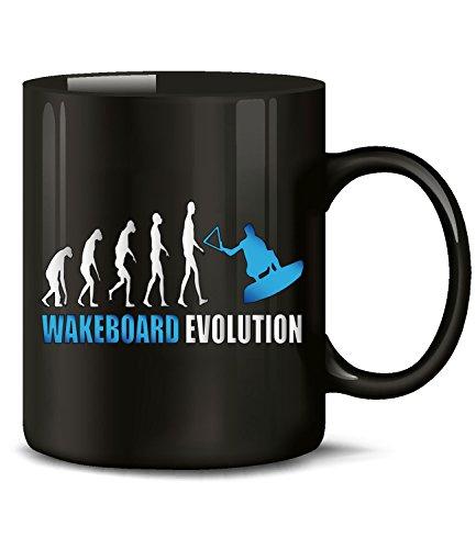 love-all-my-shirts Wakeboard Evolution Wassersport 622 Kaffeetasse (Schwarz-Blau)