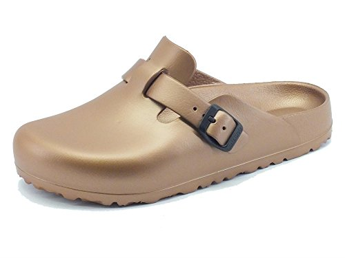 Birkenstock Boston EVA Clogs schmal metallic copper - 40