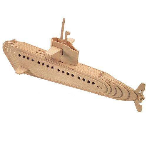 Etna Iława U-Boot 3D Holzbausatz Schiff Boot Holz Steckpuzzle Holzpuzzle Kinder P042