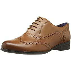 Clarks Hamble Oak - Zapatos de Cordones de cuero Mujer, Dark Tan Leather, 38