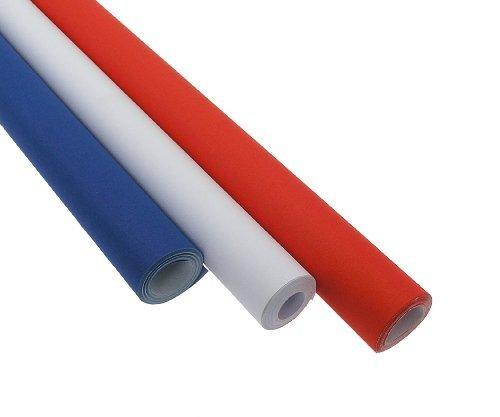 apier farbig, à 760mmx10m, 3 Rollen, Rot, Weiß und Blau (Rotes Und Weißes Geschenkpapier)
