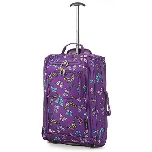 western-gear-cabin-trolley-hand-luggage-bag-butterflies-purple
