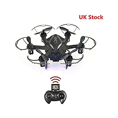 RC Helicopter Drone | Noza Tec RC Quadcopter Camera HD 720P Remote Control | LED Rechargeable 4CH 6-Axis Gyroscope 2.4 GHz RC Helicopter Drone Quadcopter - (4G SD Card & SD Card Reader Included) - UK Stock