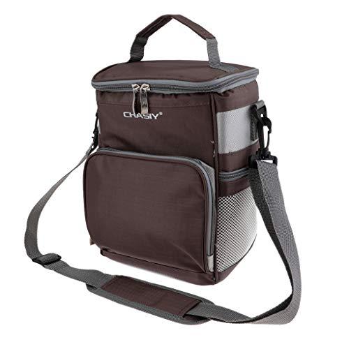 P Prettyia Kühltasche Picknicktasche, 7 L Lunchtasche Mittagessen Tasche - Braun - Braun Mittagessen Tasche