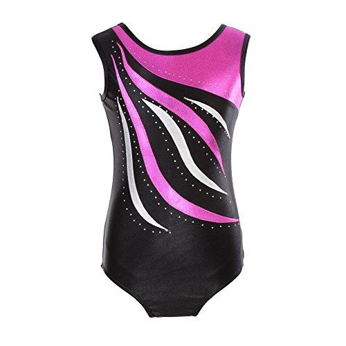 Reefa Leotards für Mädchen Gymnastik Kinder Einteilige Sparkle Ballett Tutu Kleid Tanz ()
