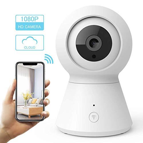 Preisvergleich Produktbild YLJYJ WLAN IP Kamera Überwachungskamera 1080P mit Nachtsicht,  2 Wege Audio,  Fernalarm,  Bewegungserkennung,  Mobile App Kontrolle als Baby / Haustier-Monitor,  White