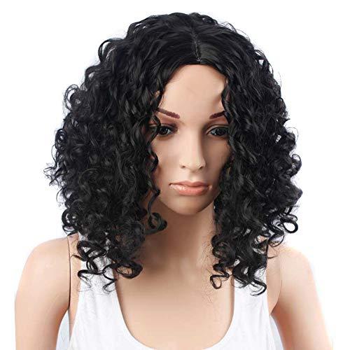 Perücke Frauen Damen Haar Wigs Glatt Kurz Für Karneval Fasching Cosplay Party Kostüm,Black,18inches (Kostüm Shaggy Für Erwachsene)