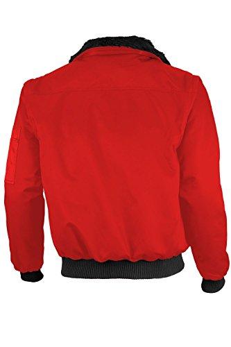 Qualitex - Pilotenjacke 4 in 1 - Kragen und Ärmel abtrennbar - mehrere Farben Rot